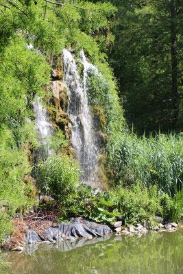 Ein Wasserfall im Palmengarten Frankfurt