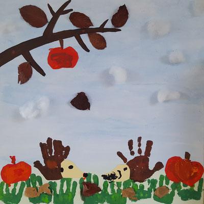 Herbst-Dekoration im Spielzimmer