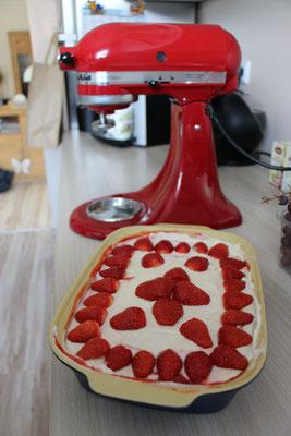 Unsere Kitchen Aid im Einsatz für eine Mascarpone-Creme
