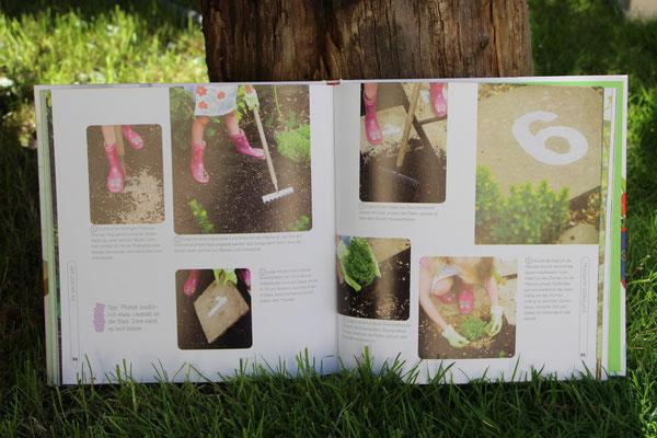 """Das aufgeschlagene Buch """"Mein Bastelgarten"""""""
