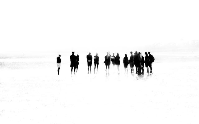 Bild 5: Menschengruppe im Watt