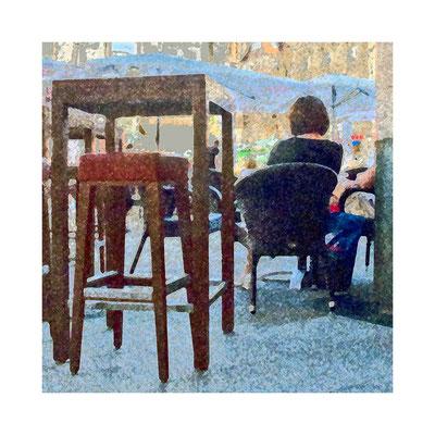 Bild 1: Im Café