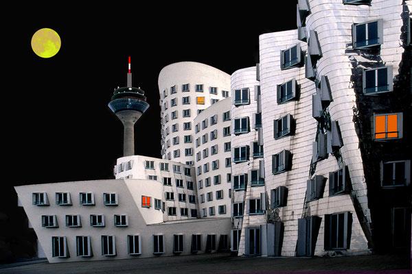 Bild 1: Düsseldorf bei Nacht