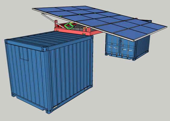 Solar Tip-Top en ombrière sur deux CTR 10'