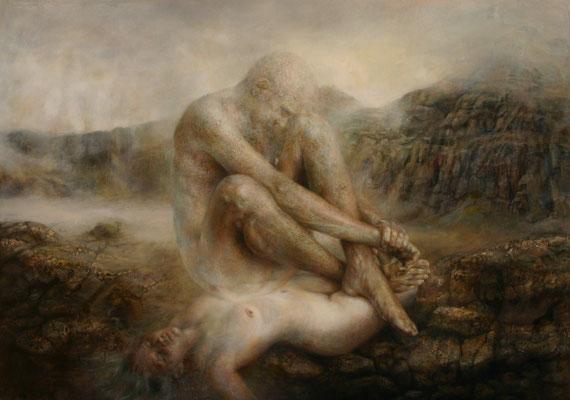 Animus - 2015,  120x170, olio su tela su legno..