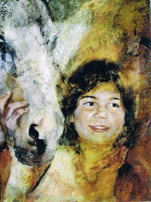 Portrait : Alessia, olio su tela