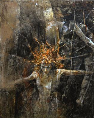 Darkness Freedom. 2012, 50x40, acrilico su tela.