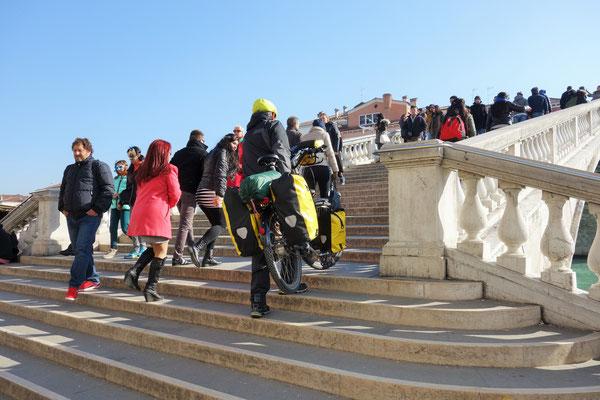 Fahrradtourismus in Venedig