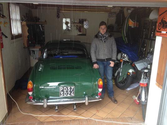 dieser junge Herr hat uns sein Zimmer vermietet. Seine Familie besitzt 18 VW-Oldtimer und ein Motorradmuseum mit 200 Exponaten in Levico Terme