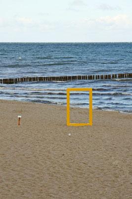 Rahmen am Strand
