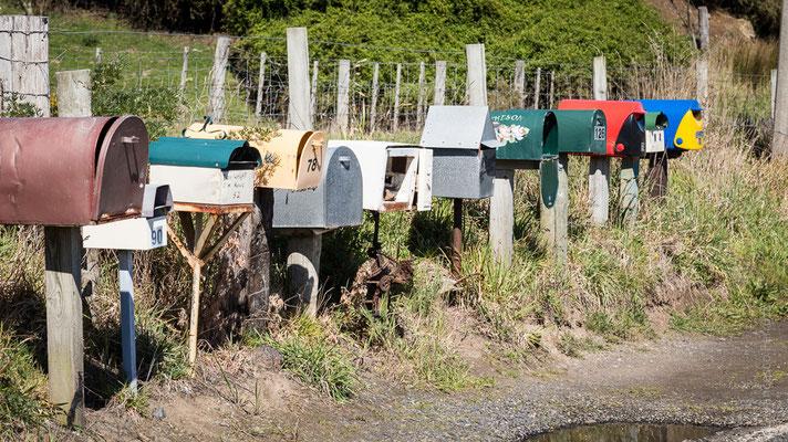 Le cassette della posta, alcune molto fantasiose a Dunedin - Otago Peninsula - New Zealand - Nuova Zelanda