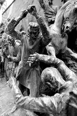 Statua di Carlo Alberto (dettaglio) - Giardini del Quirinale - Roma