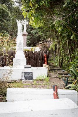 Cimitero in un villaggio Maori a Rotorua - New Zealand - Nuova Zelanda