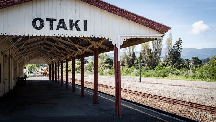 Una delle antiche stazioni che si incontrato lungo il percorso della ferrovia che attraversa il Paese - New Zealand - Nuova Zelanda