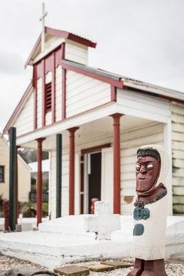 Chisa cristiana in un villaggio Maori di Rotorua - New Zealand - Nuova Zelanda