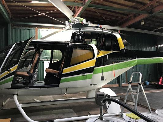 無事に日本へ到着したヘリコプター EC120B