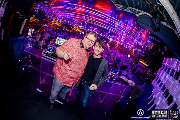 DJ Dany Disher und DJ Chris Sharp im Admiral Gießen