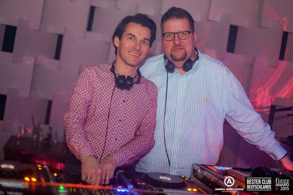DJ  Chris Sharp und Dany Disher im Admiral Gießen