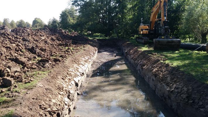 Création d'un canal de dérivation provisoire des eaux