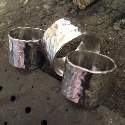 Anelli fascioni in argento 925