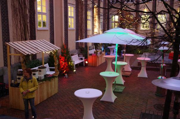 Mobiler Weihnachtsmarkt für Firmenfeier