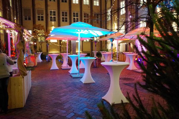 LED Scheinwerfer für Weihnachtsmarkt, Partyservice Ingolstadt, www.genusskuenstler.de