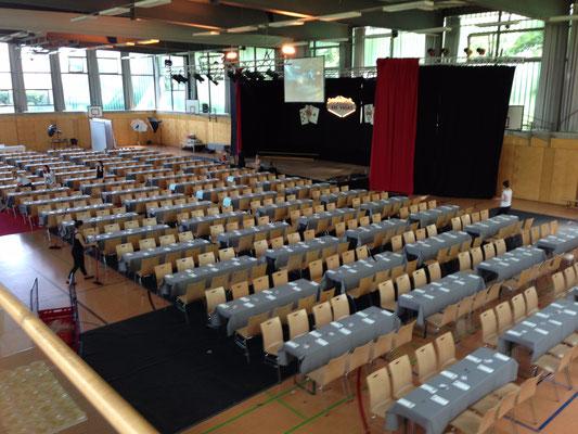 Veranstaltungsbestuhlung, Tischwäsche