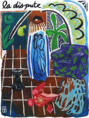 LA DISPUTE - Acrylic on canvas - 35.5x47.5inch -2012-