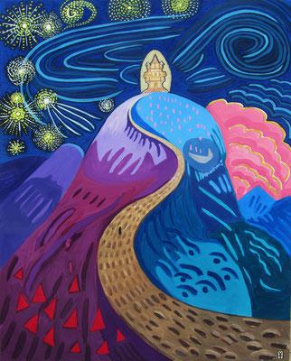 LA CUESTA - Acrylic and oil pastel on canvas- 2012