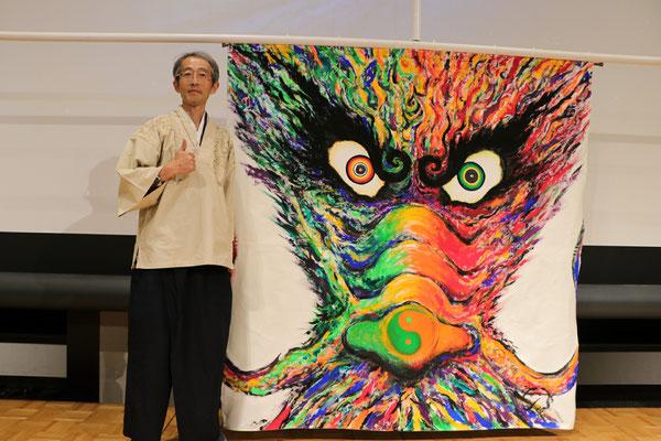 夢を叶える龍の絵を描いた中村広之さん
