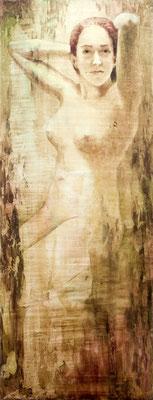 SIRENA 23,  Olio e stucco su legno,   cm 47x125, conr16-17