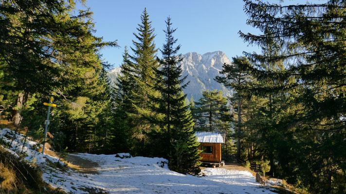 Jagdhütte kurz oberhalb des Straßberghauses