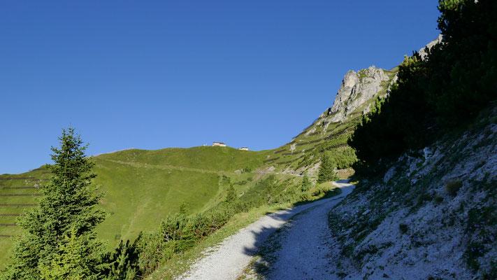 Richtung Starkenburger Hütte