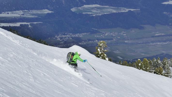 Holger hoch über dem Inntal