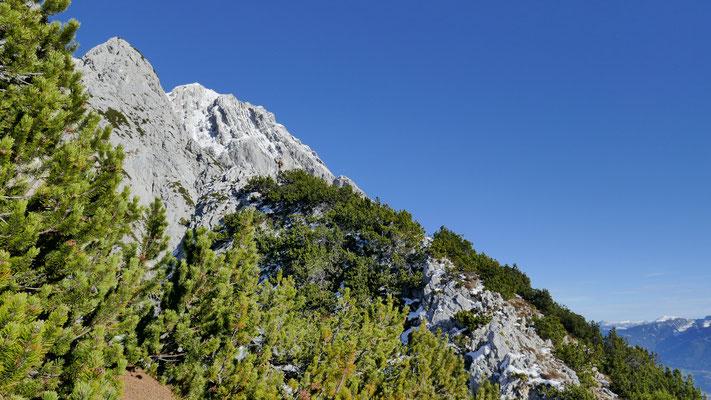 50m westlich vom Gipfelkreuz