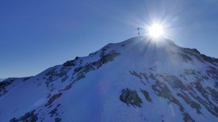 Ausstieg, viel ungebundener Schnee