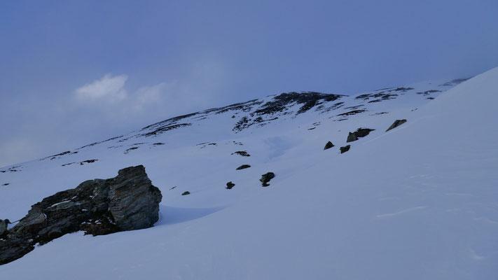 Unschwierig Richtung Gipfel