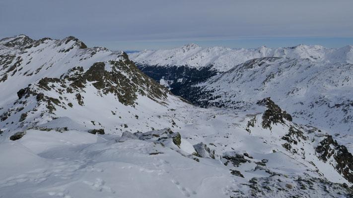 Direkte Abfahrtsmöglichkeit Mölstal, zuwenig Schnee dafür