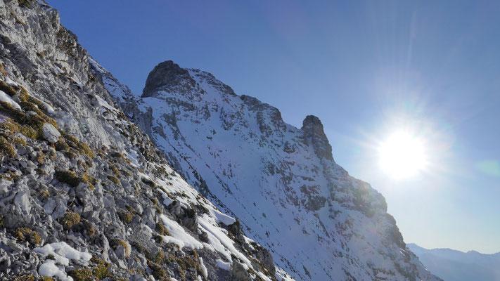 Westliche Gipfelflanke