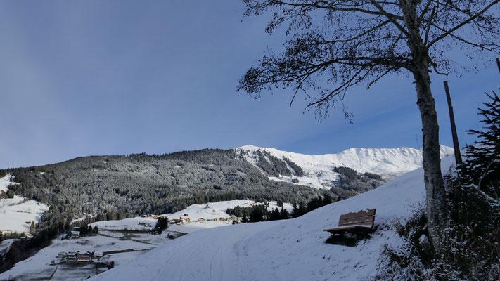 Gerade genug Schnee für Aufstieg