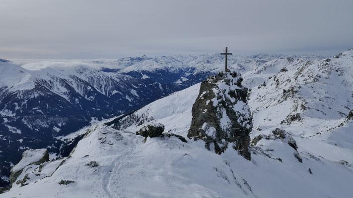 Naviser Sonnenspitze 2.619m, mit Gipfelkreuz #1