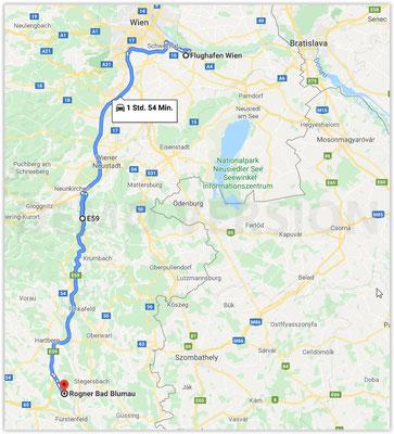 Autofahrt Flughafen Wien -> Bad Blumau