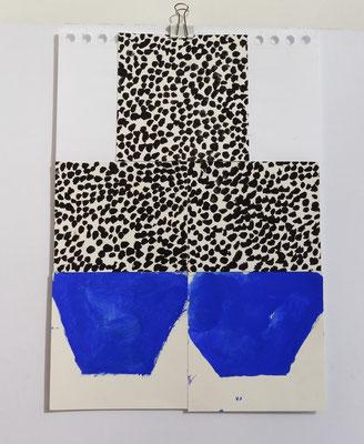 Sasha Pichushkin, Collage XI, 20 x 30 cm, Galerie SEHR Koblenz