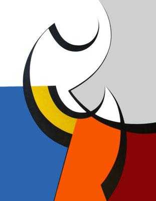 Debut de forme, Acryl auf Leinwand, 89 x 116 cm