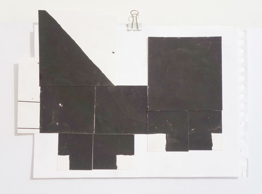 Sasha Pichushkin, Collage V, 20 x 30 cm, Galerie SEHR Koblenz