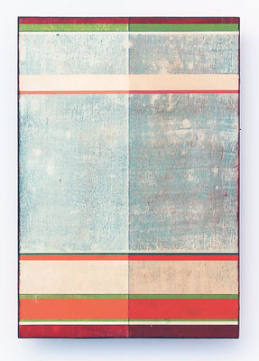 small plywood-sketch, 20,8 x 14,7 cm, Mischtechnik auf Holz, 2017