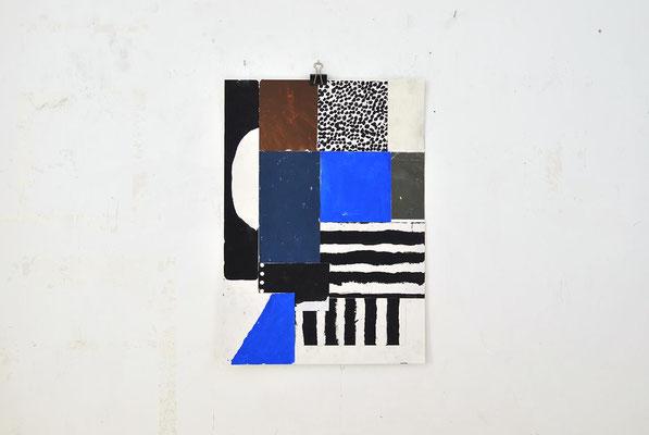 Sasha Pichushkin: Collage_1, 2016 Mischtechnik auf Papier, 30 x 42 cm, Galerie SEHR 2017