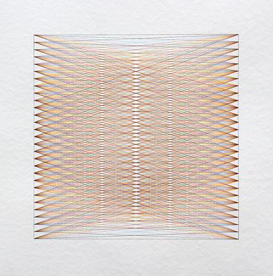ohne Titel, Tinte auf Papier, 40 x 40 cm, 2016