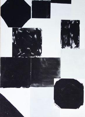Sasha Pichushkin, Collage_9, Mischtechnik auf Papier, 30 x 42 cm, Galerie SEHR Koblenz