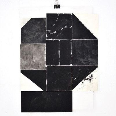 Sasha Pichushkin, Collage_10, Mischtechnik auf Papier, 30 x 42 cm, Galerie SEHR Koblenz